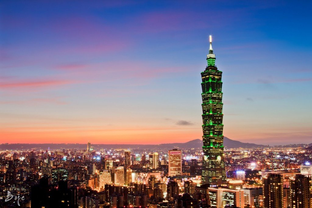 Taipei 101 from Elephant Mountain 1919hours