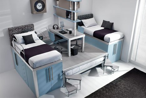 10 Space Saving Bedrooms with Work Spaces