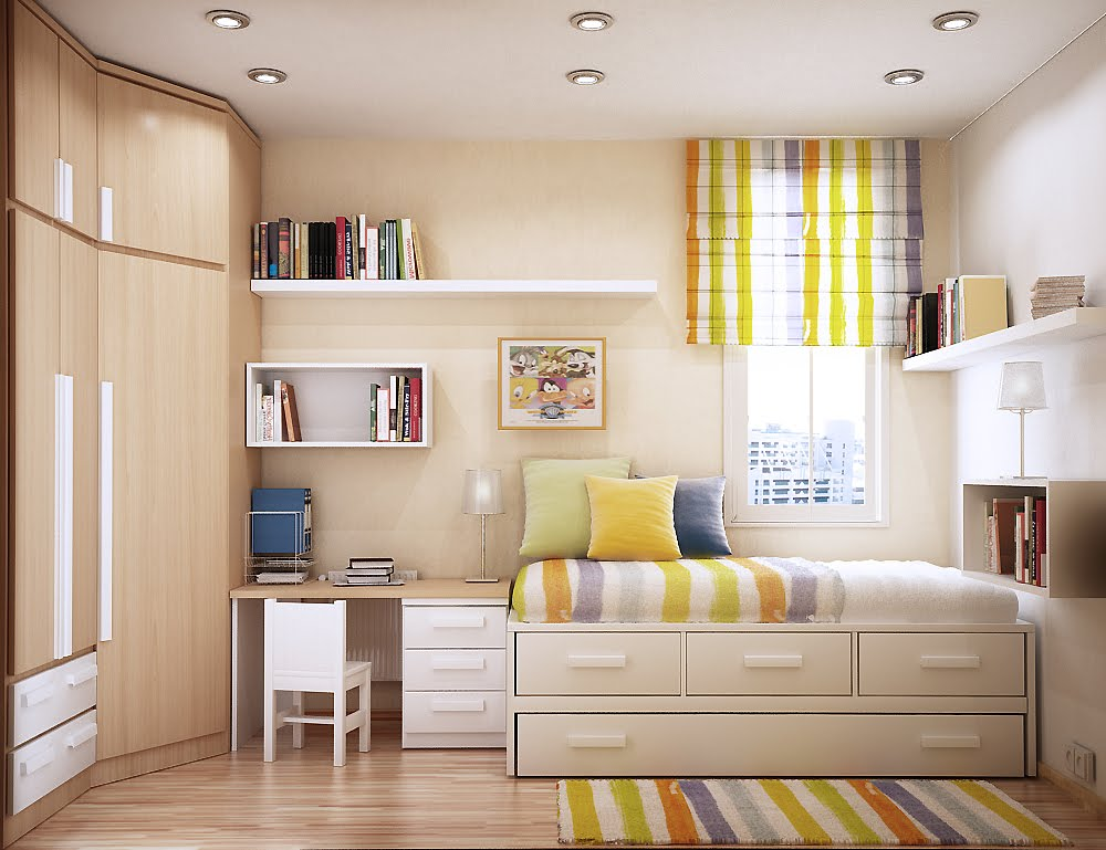 10 Space Saving Bedrooms with Work Spaces   Urban Splatter. Space Saving Bed Designs  25 Ideas Of Space Saving Beds For Small