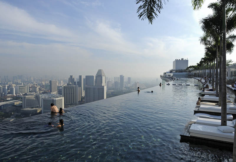 Infinity Pool Chicago scary pool in the sky marina bay sands hotel splatter