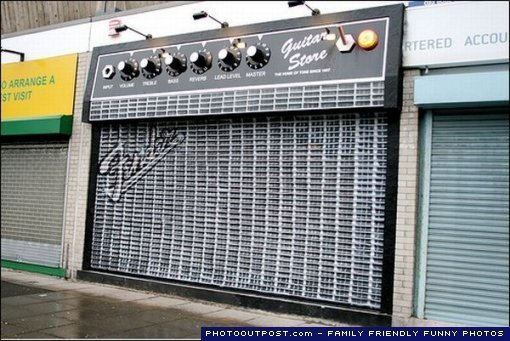 The Guitar Store in Southampton England