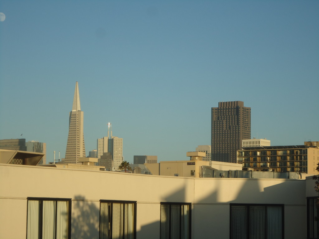 View of San Francisco from Hotel.