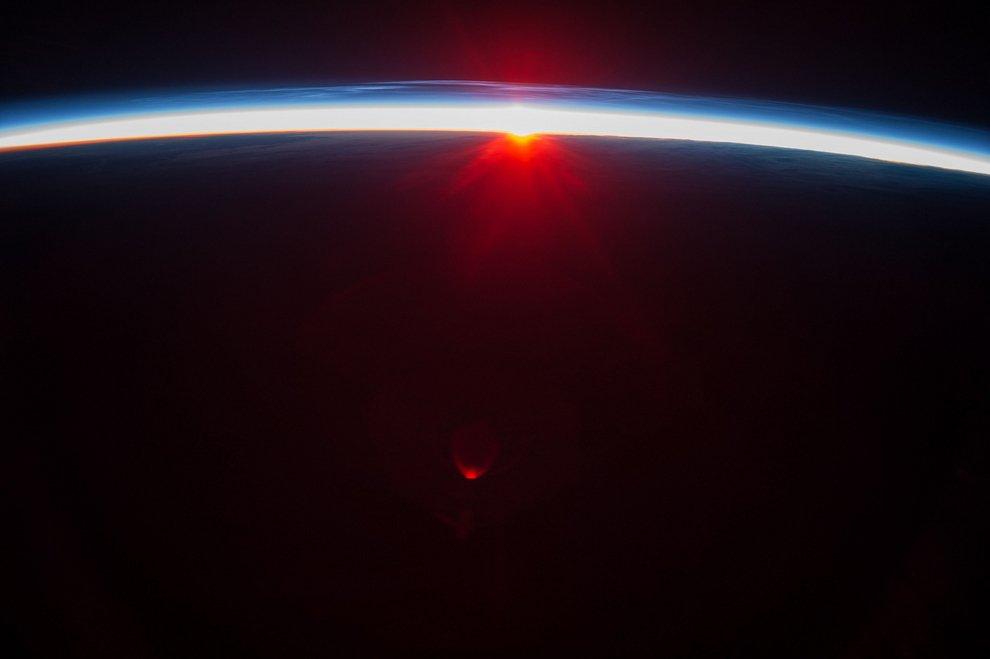 A sunset over the Aleutian Islands.