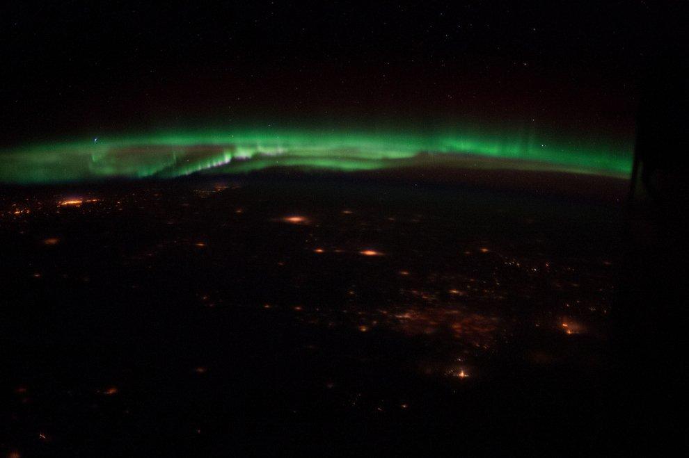 Aurora Borealis over Colorado.