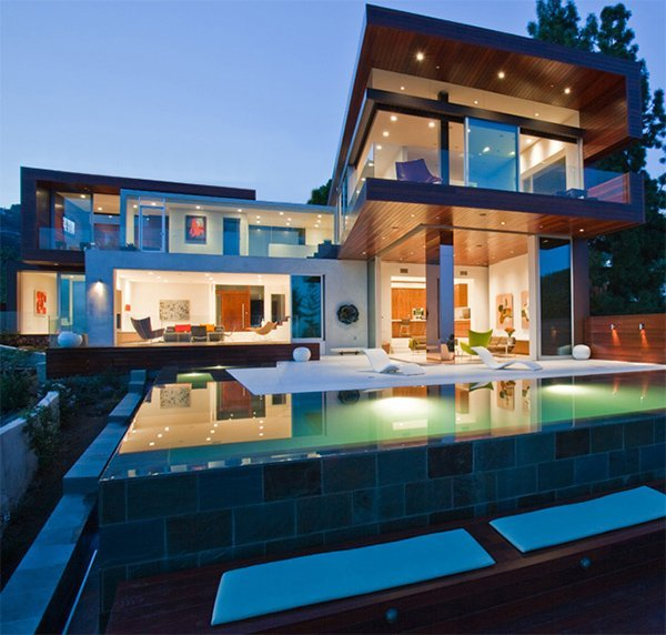 Hollywood Hills home, recently built.