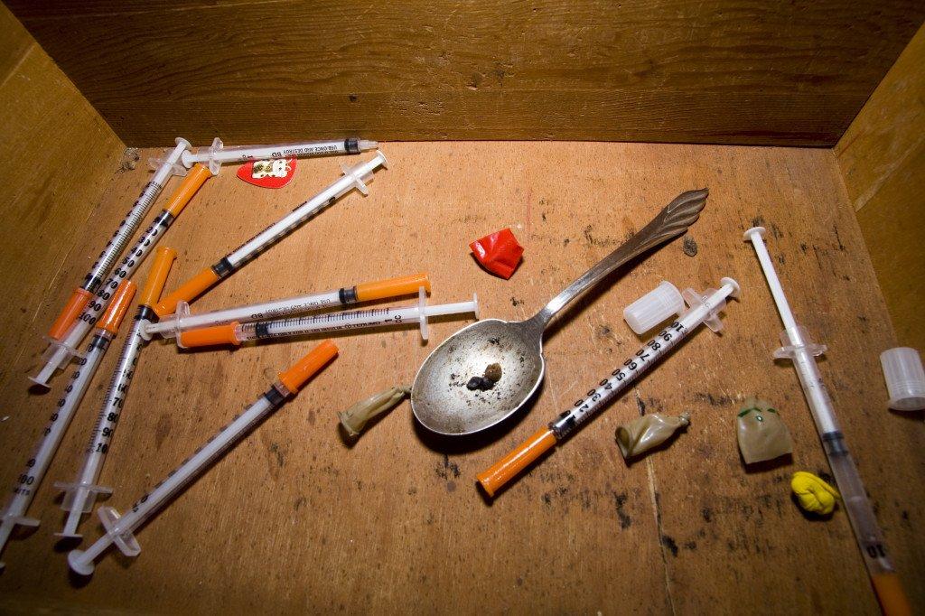 heroin-needles