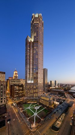 311 South Wacker at dusk