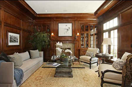 Harrison-Ford-LA-house-library