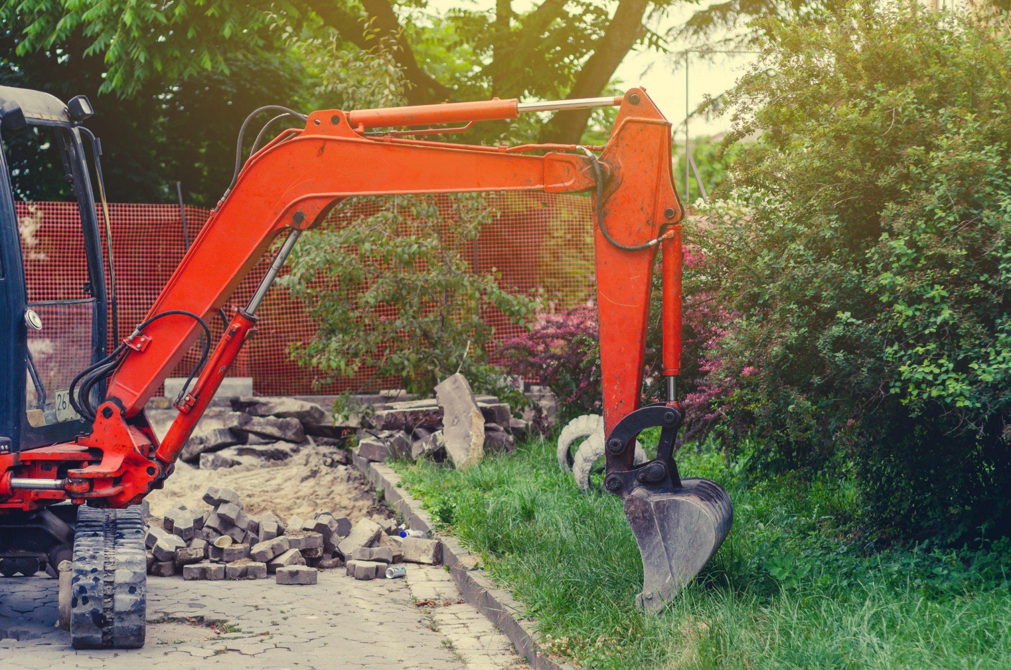 best mini excavator for landscaping