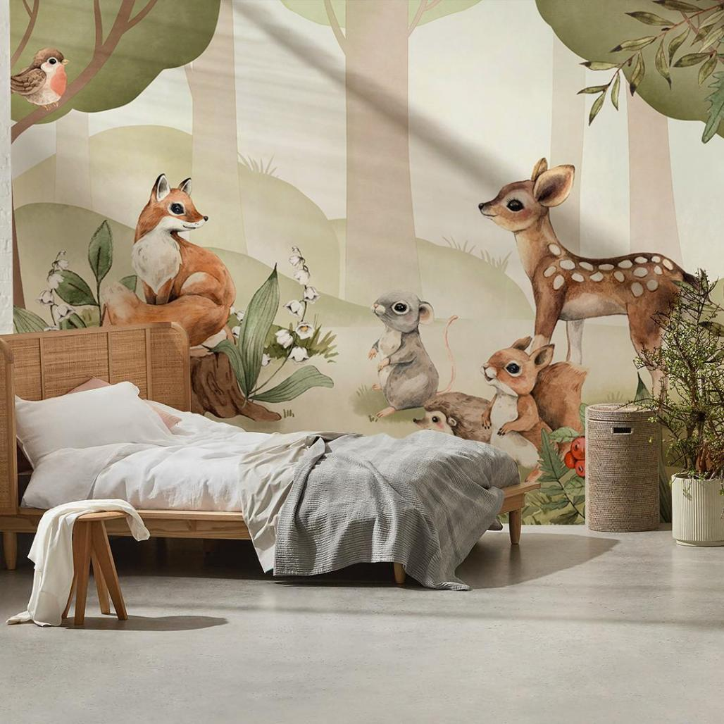 forest-animals-mural-wallpaper-room