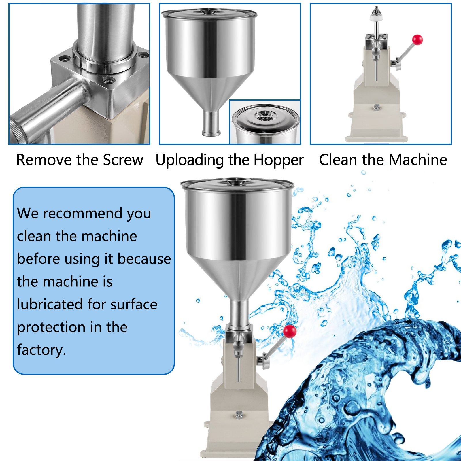 Manual,No-Drip Option,Stainless,